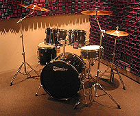 Full drum kit ready to record